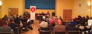 Vänsterpartiets listor till riksdag och landsting sattes av valkonferensen på Drabanten, Uppsala, 26 januari.