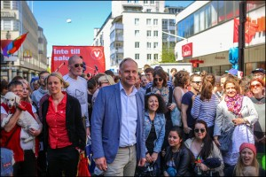 Demonstera med oss på 1 maj. Foto: Amadeus Sepulveda