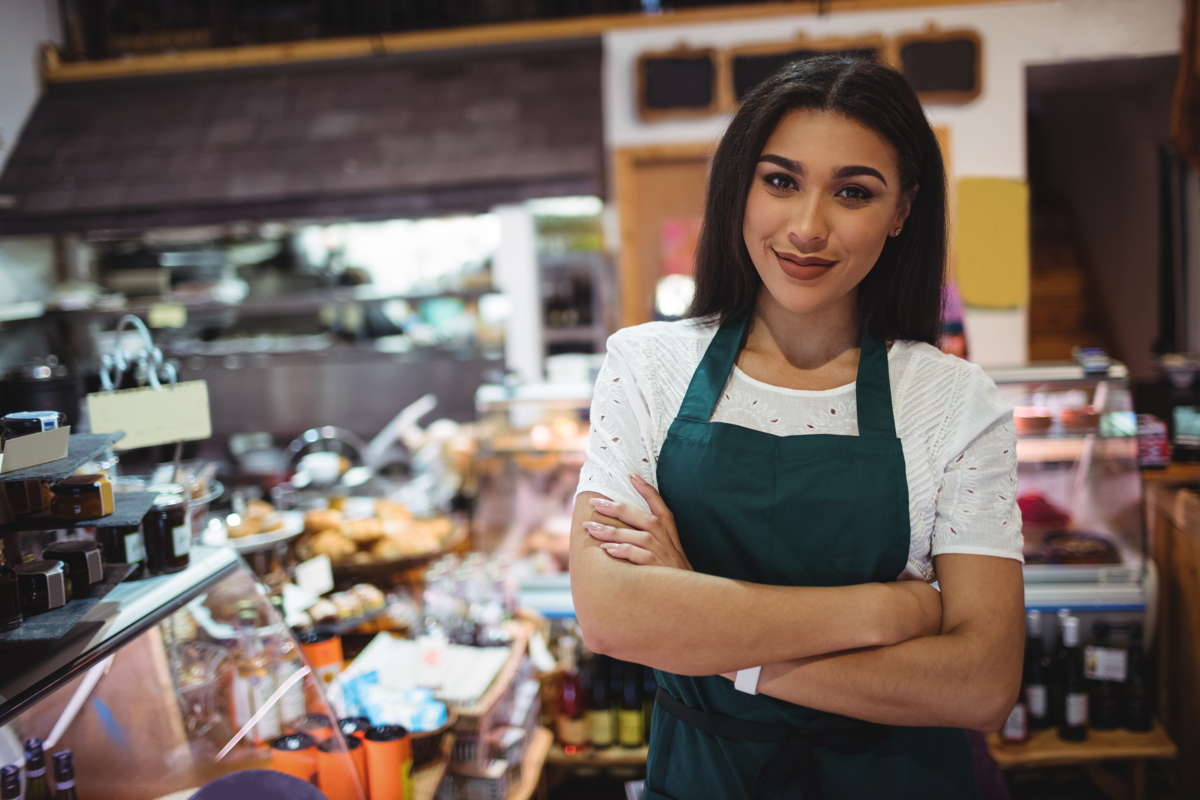Handelsanställd i livsmedelsaffär